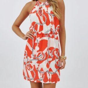 Lily Pulitzer Kennett Nautical Silk Dress S